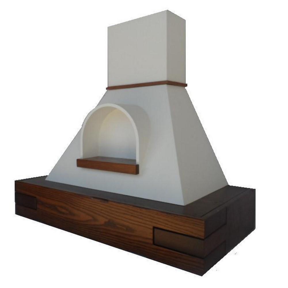 Cappa classica inkas con nicchia frassino scuro cappe classica rustica legno coppari - Motore per cappa cucina ...