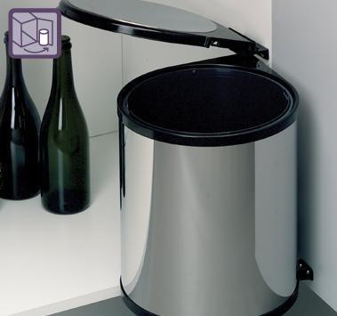 Pattumiera sottolavello tonda inox scavolini 13 litri cucina accessori cucina pattumiere af - Mobiletto portatelefono ikea ...